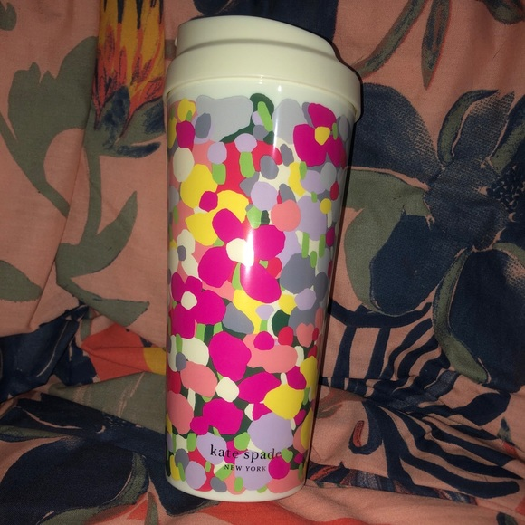 NWT Kate spade floral travel cup